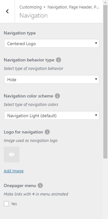 Navigation, Page Header, Preloader — Weddington documentation